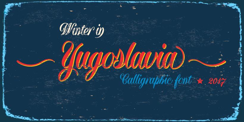 Yugoslavia, fuente caligráfica 6