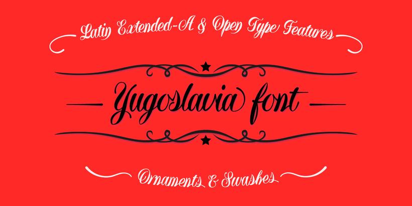 Yugoslavia, fuente caligráfica 5