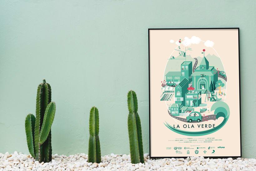 Cartel para el documetal La Ola Verde -1