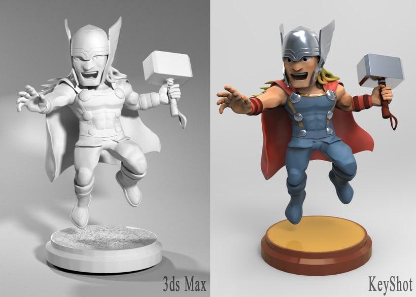 Proyecto:  Thor /Modelado profesional de personajes cartoon 3D 4