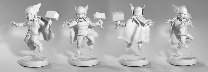 Proyecto:  Thor /Modelado profesional de personajes cartoon 3D 2