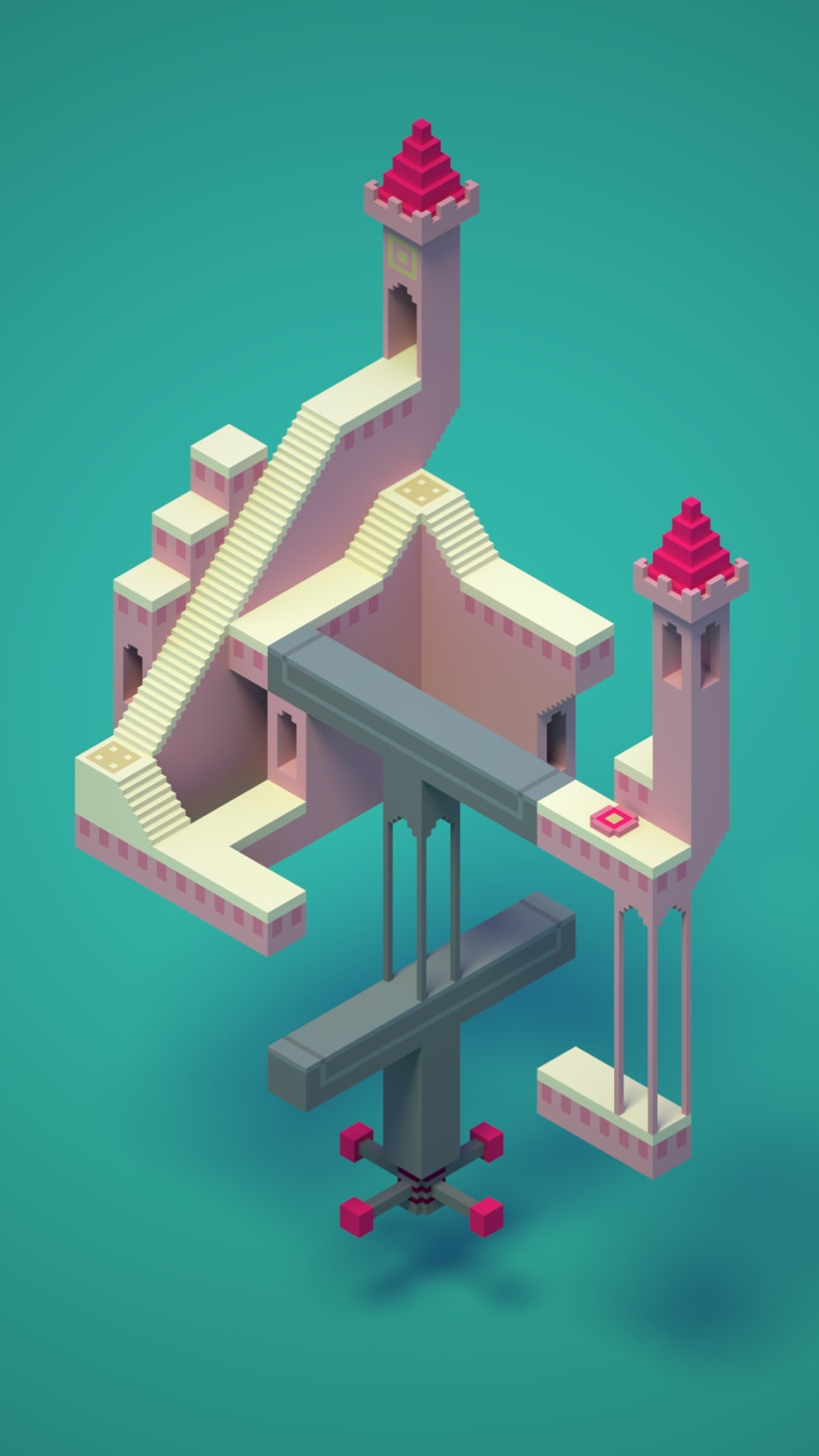 Monument Valley Fan Art con MagicaVoxel 0