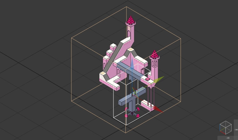Monument Valley Fan Art con MagicaVoxel 2