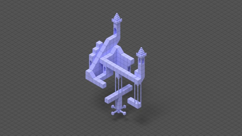 Monument Valley Fan Art con MagicaVoxel 5