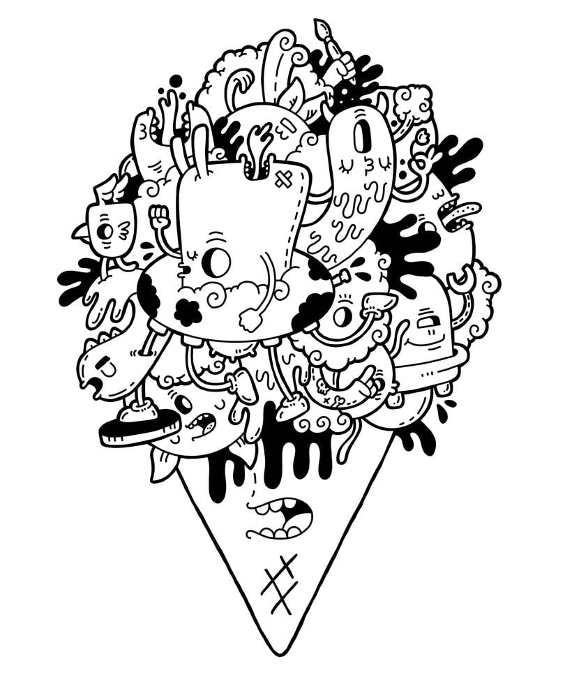Icecream Ilustración  0