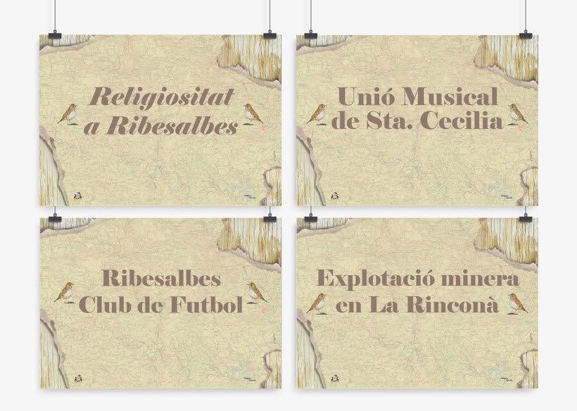 Carteles para el Museo de la Baronía de Ribesalbes, Castellón 1