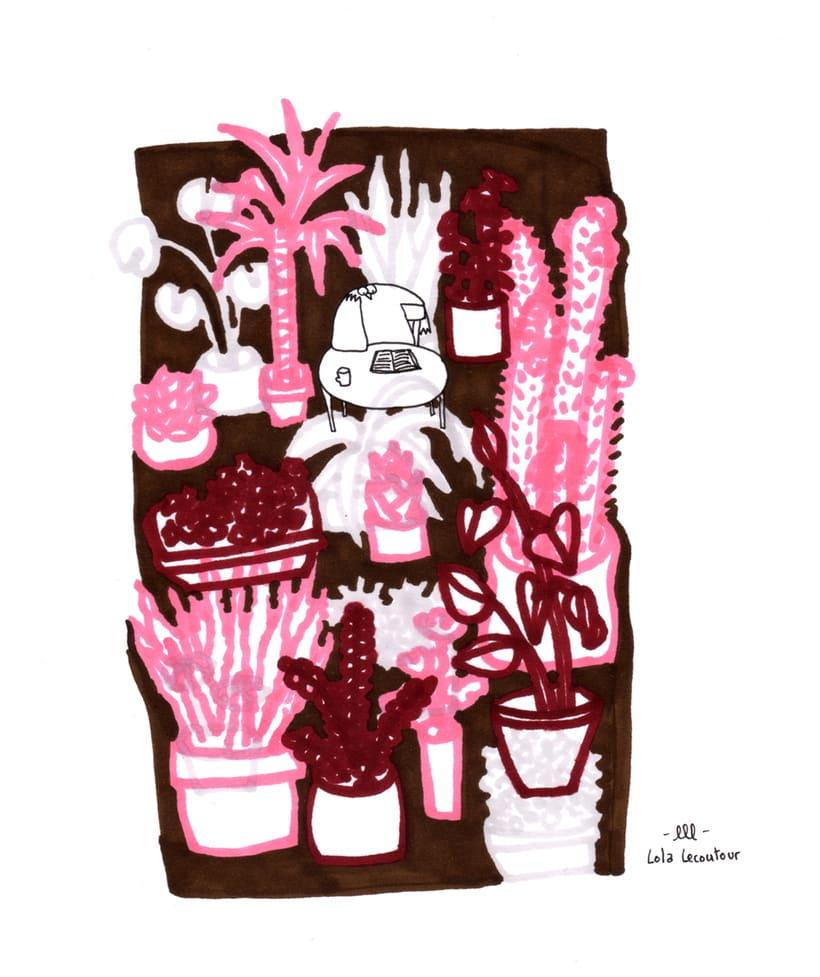 Serie de ilustraciones.  1