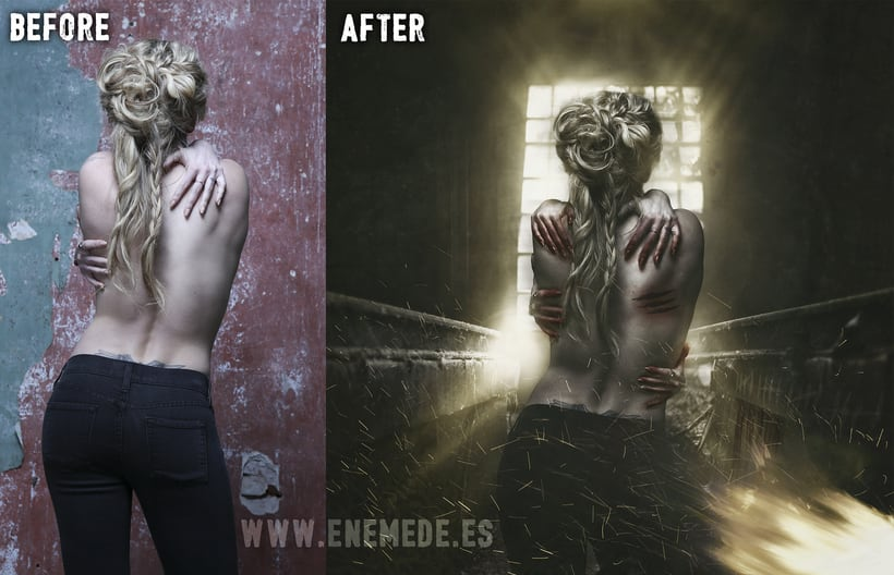 Retoque - Before & after 0