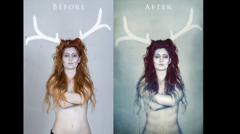 Retoque - Before & after 3