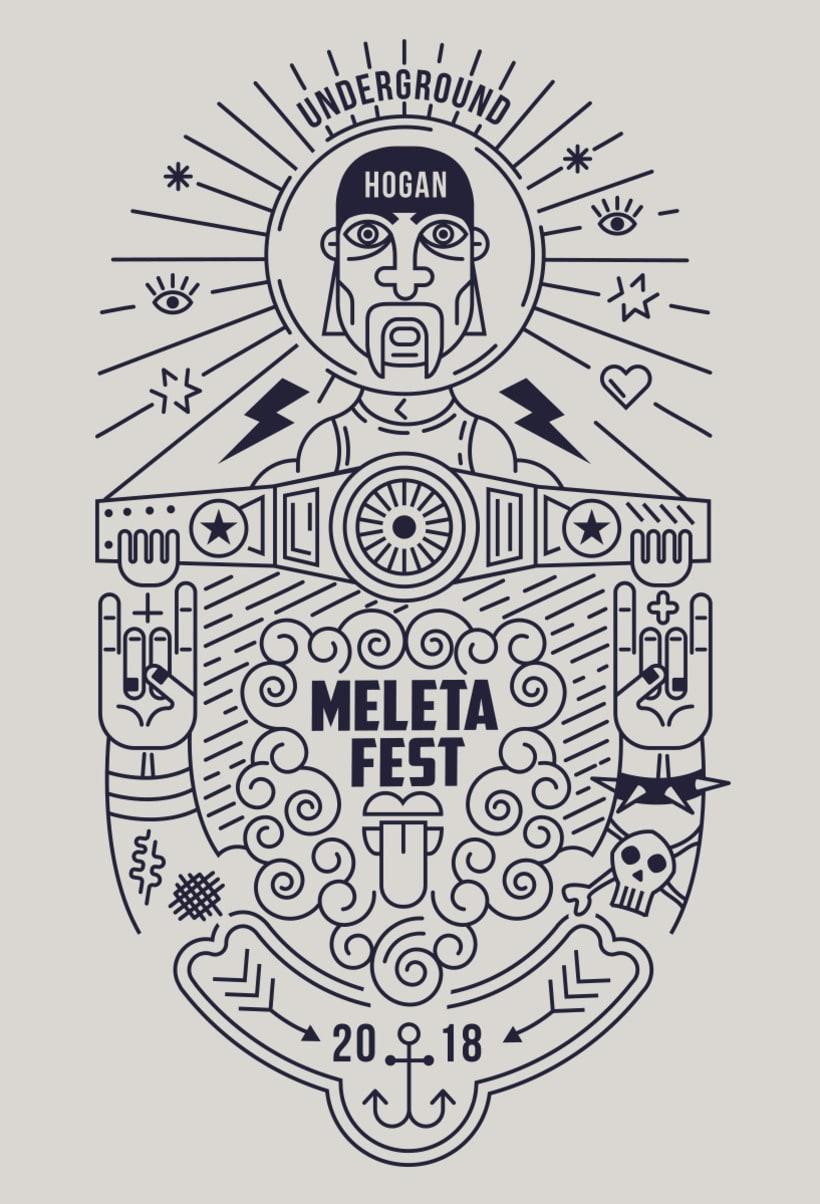 Ilustración para el Meleta Fest ( rock music festival ) 0