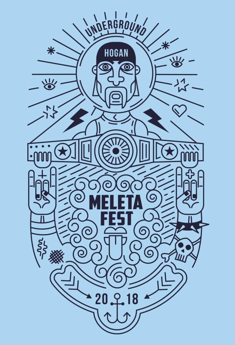 Ilustración para el Meleta Fest ( rock music festival ) 1