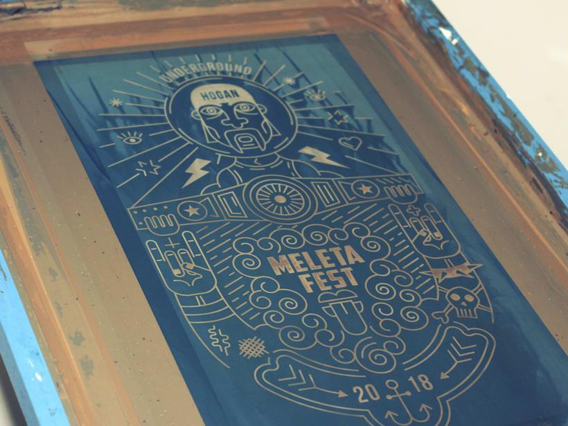 Ilustración para el Meleta Fest ( rock music festival ) 2