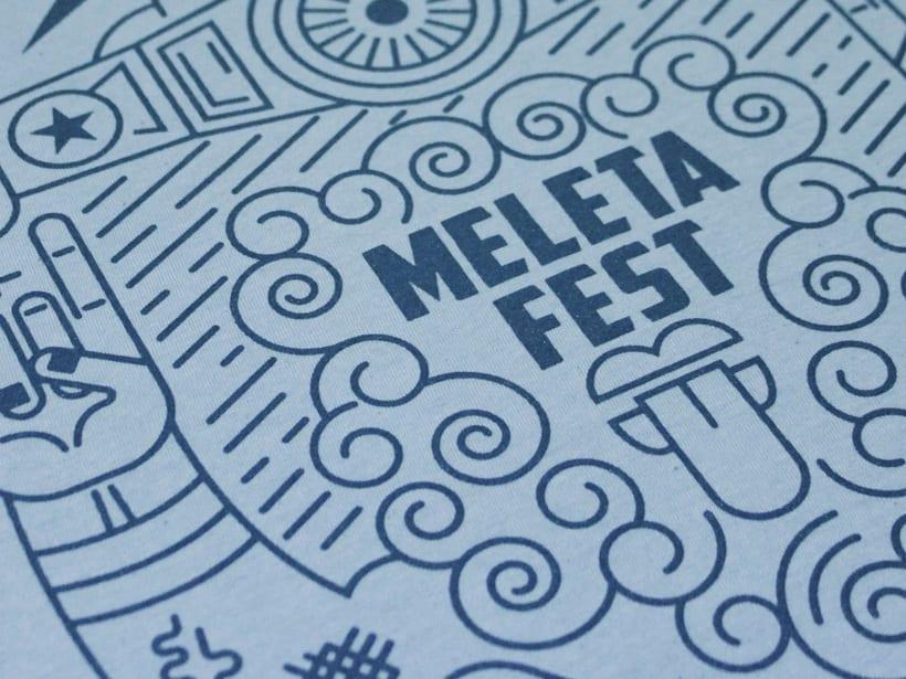 Ilustración para el Meleta Fest ( rock music festival ) 3