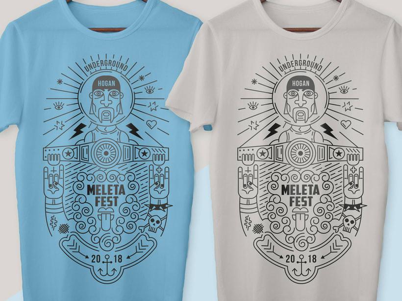 Ilustración para el Meleta Fest ( rock music festival ) 4