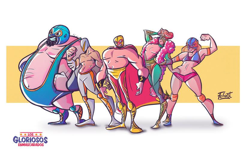 Los Gloriosos Enmascarados (Diseño de personajes) 0