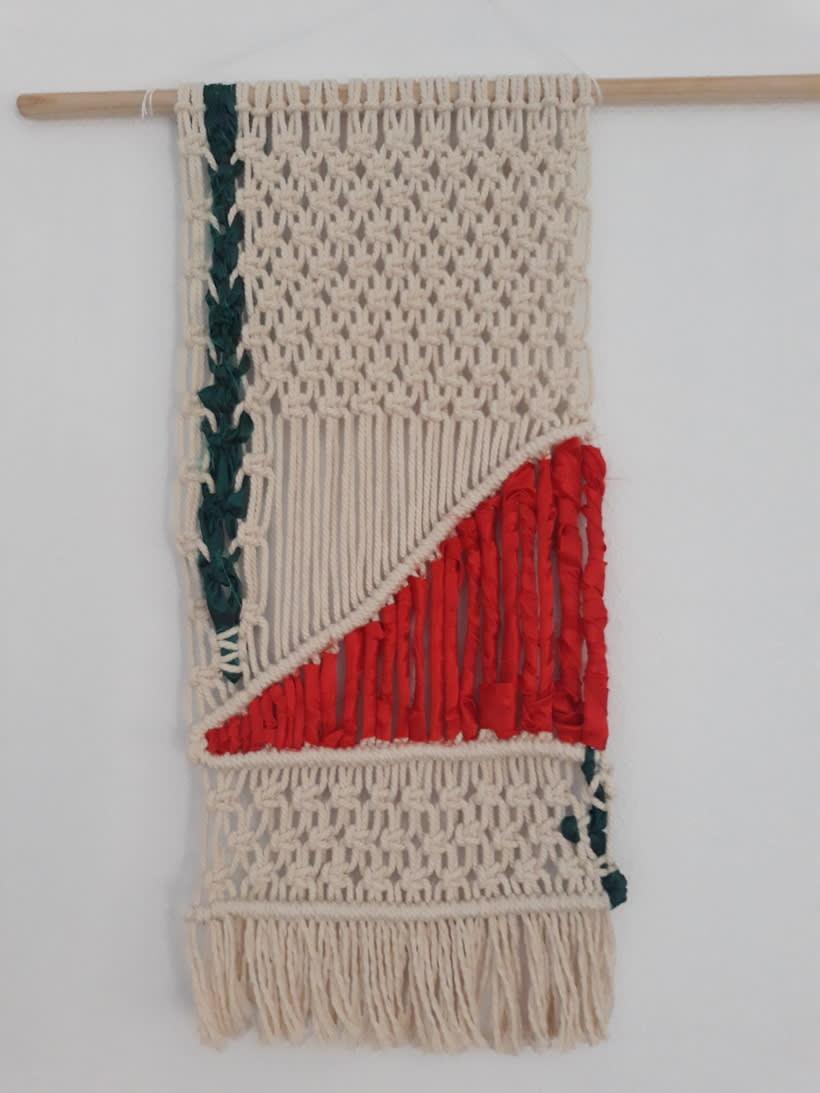 Mi Proyecto del curso: Introducción al macramé: creación de un tapiz decorativo: Oriental Glam 1