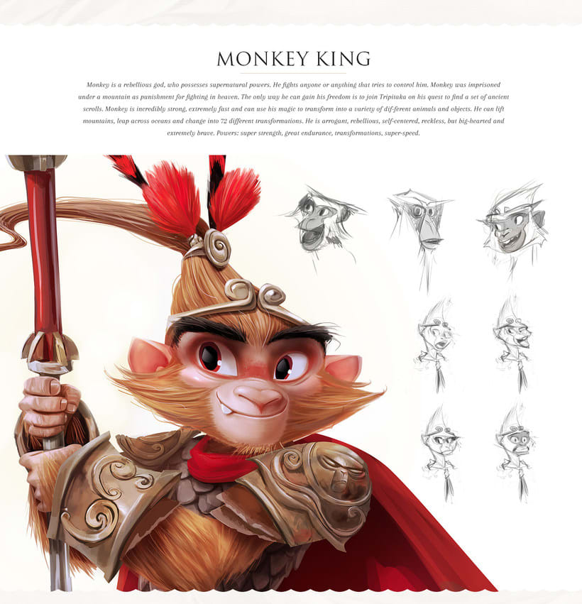 Monkey King Character design 1