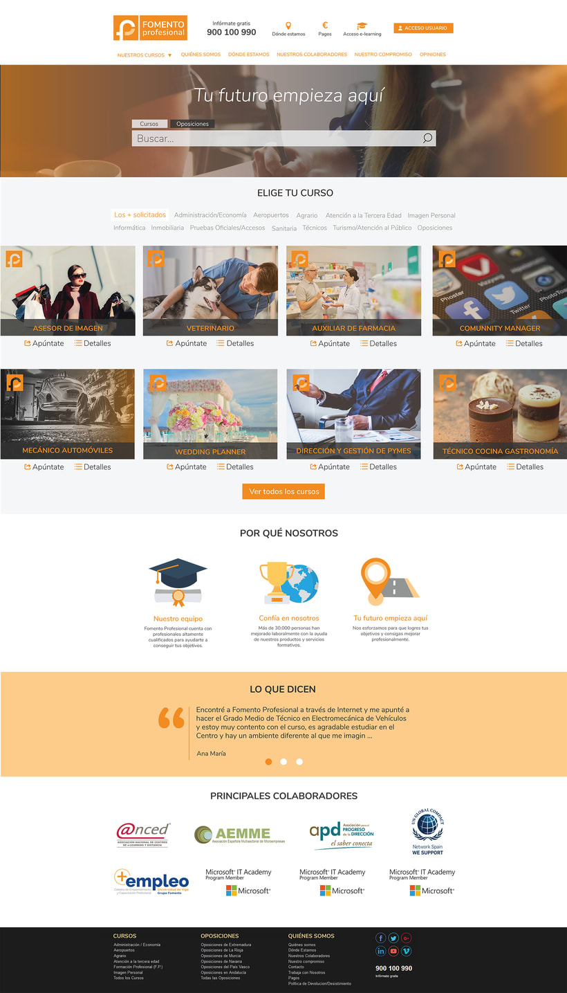 Rediseño web - Fomento Profesional 1