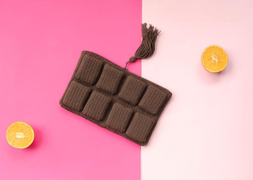 bolso de ganchillo - tableta de chocolate 0