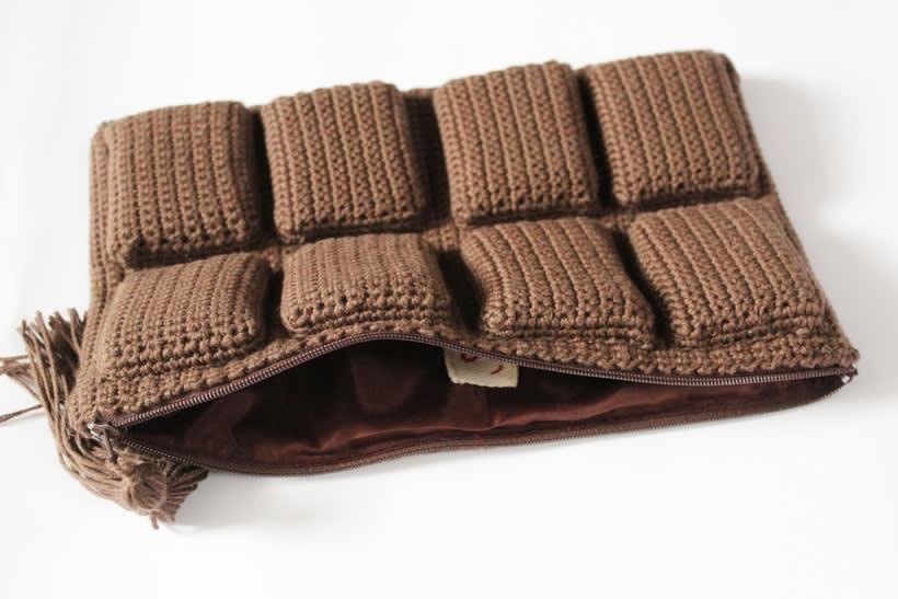 bolso de ganchillo - tableta de chocolate 1