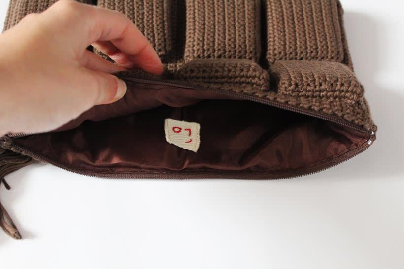 bolso de ganchillo - tableta de chocolate 2