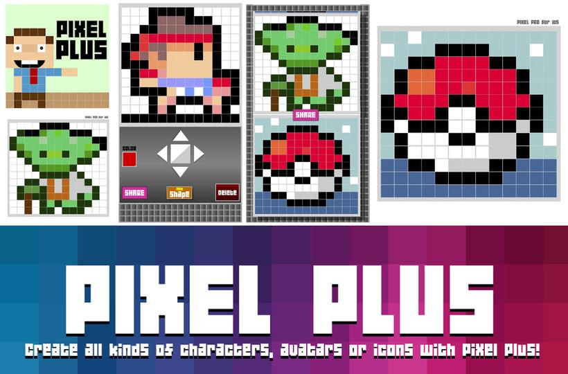 Aplicación Pixel Plus (Diseñada y programada con Adobe Animate CC) 0