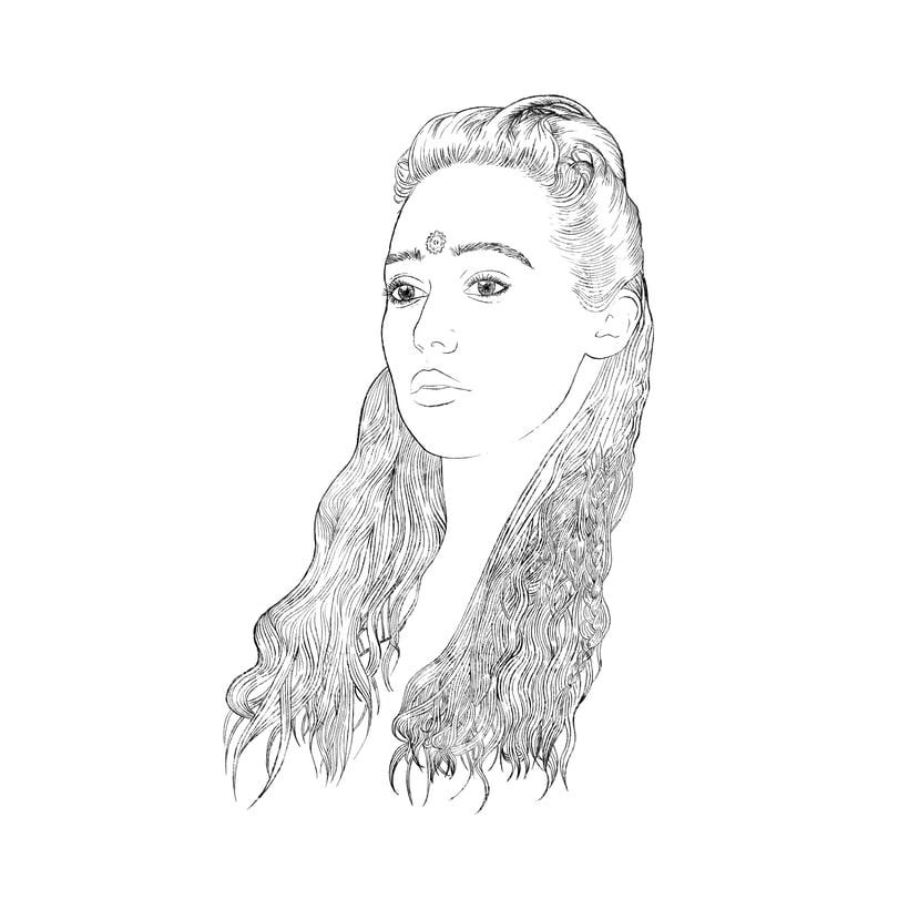 Mi Proyecto del curso: Retrato ilustrado con Photoshop. LEXA (The 100) 0