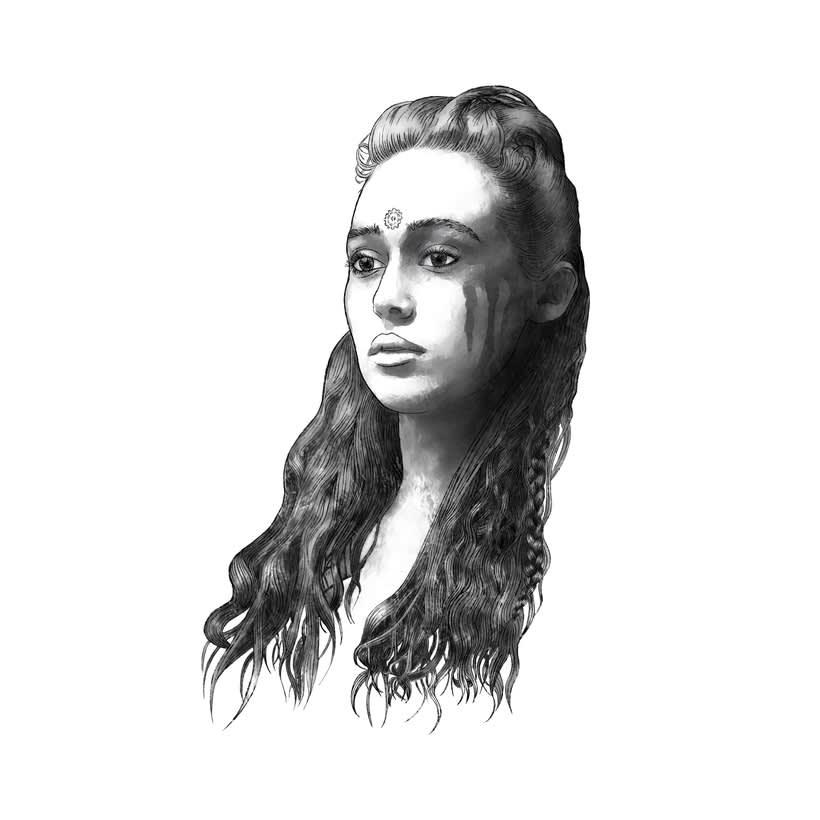 Mi Proyecto del curso: Retrato ilustrado con Photoshop. LEXA (The 100) 1