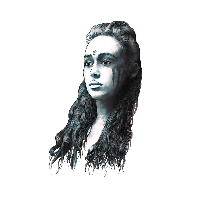 Mi Proyecto del curso: Retrato ilustrado con Photoshop. LEXA (The 100) 2