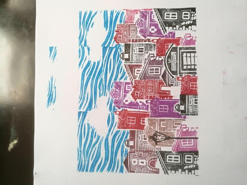 Mi Proyecto del curso: Carvado de sellos y técnicas de estampación 2