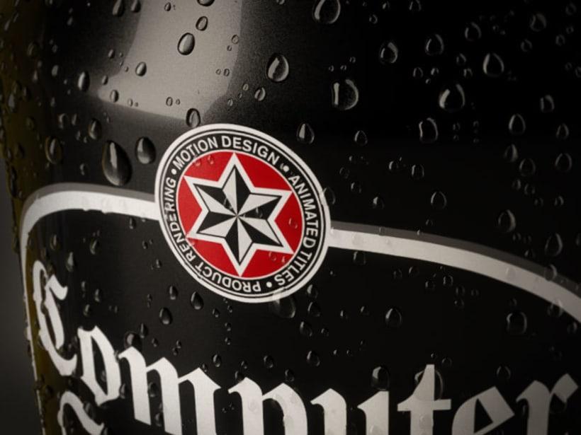Latas cerveza - simulación de producto 3