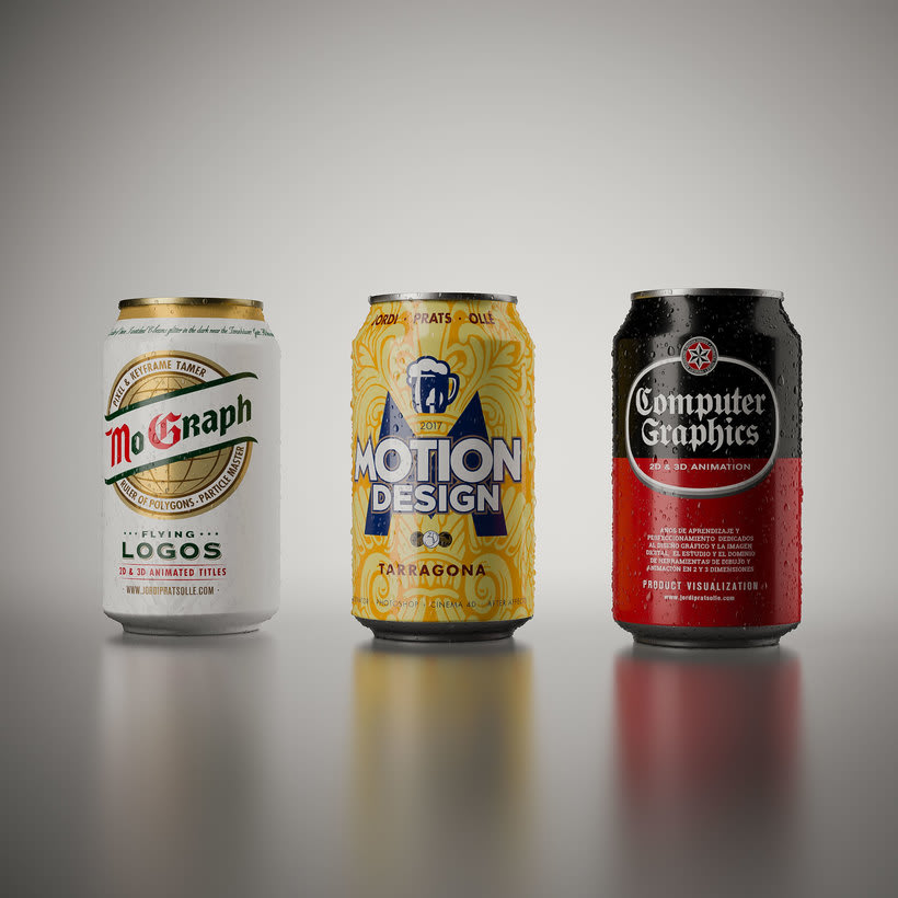 Latas cerveza - simulación de producto 1
