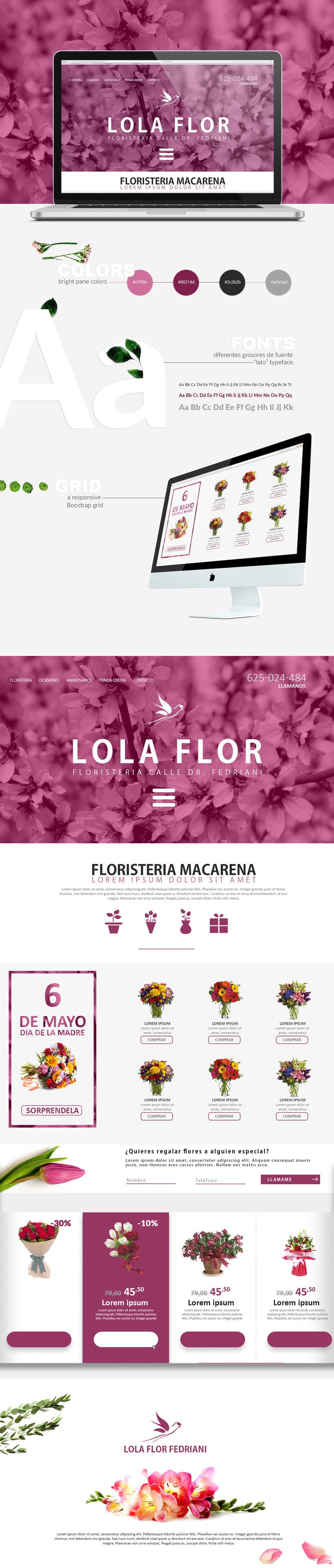 "Diseño web Lola Flor Fedriani ""Concept Home Page"" 0"