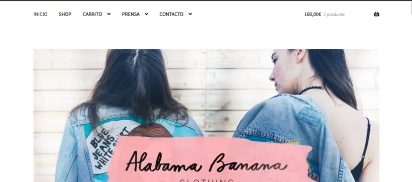 Mi Proyecto del curso: Creación de una tienda online en WordPress: ALABAMA BANANA 1