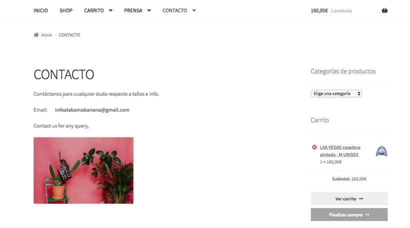 Mi Proyecto del curso: Creación de una tienda online en WordPress: ALABAMA BANANA 4