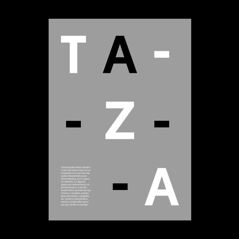 """Cartelería. Concepto e historia de la palabra """"taza"""" 3"""
