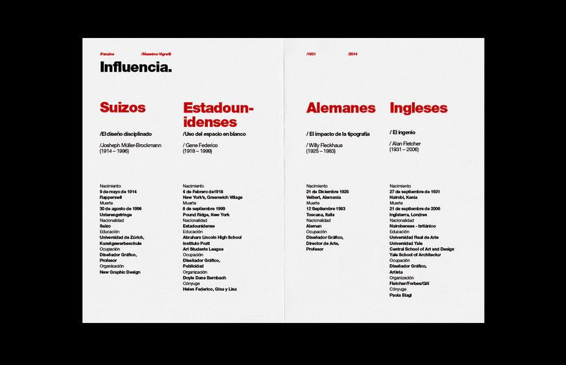 Massimo Vignelli / Fanzine 3