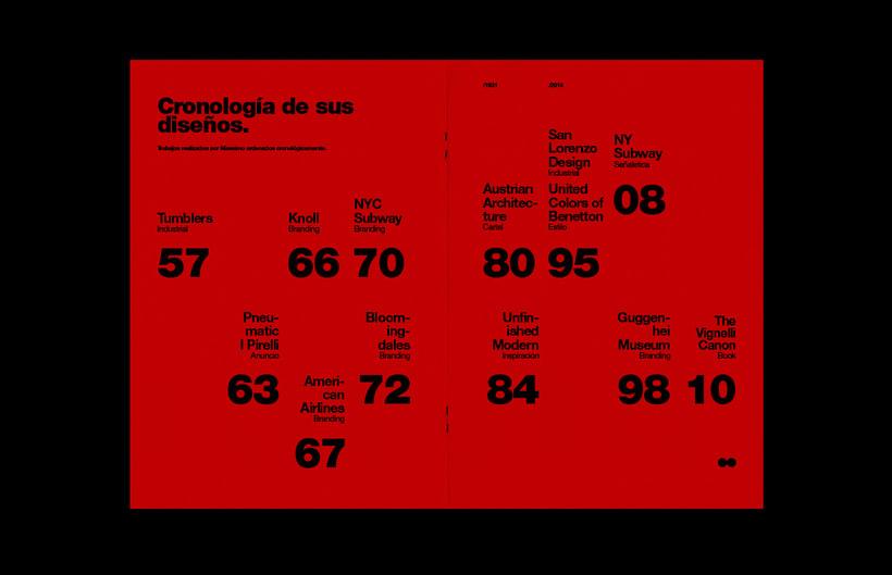 Massimo Vignelli / Fanzine 6