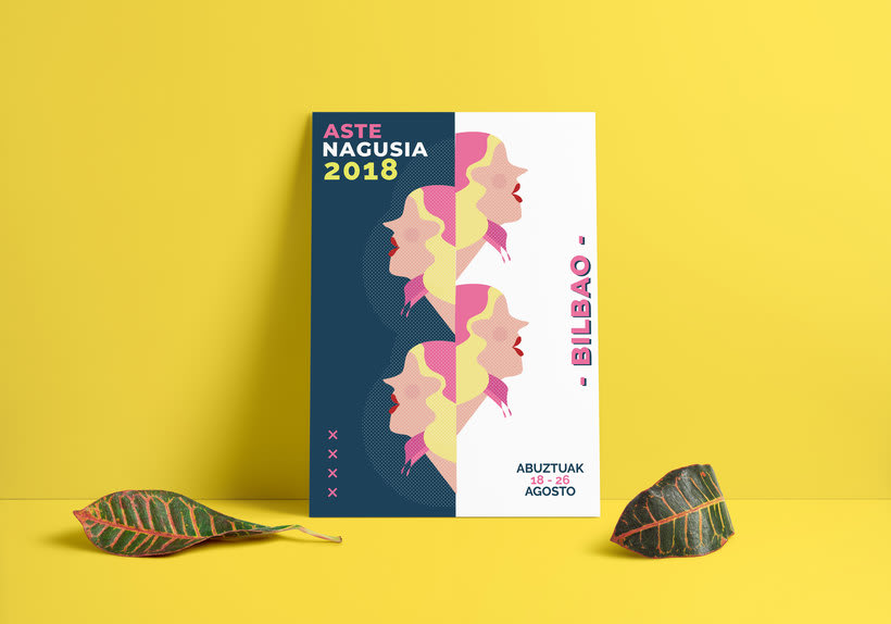 Cartel Fiestas de Bilbao 2018 - Aste Nagusia 2018 -1