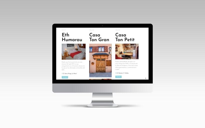 Rediseño y creación del sitio web www.apartamentosvalledearan.com con wordpress.  3