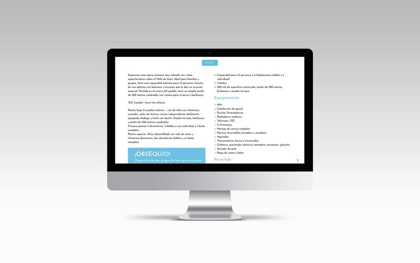 Rediseño y creación del sitio web www.apartamentosvalledearan.com con wordpress.  4