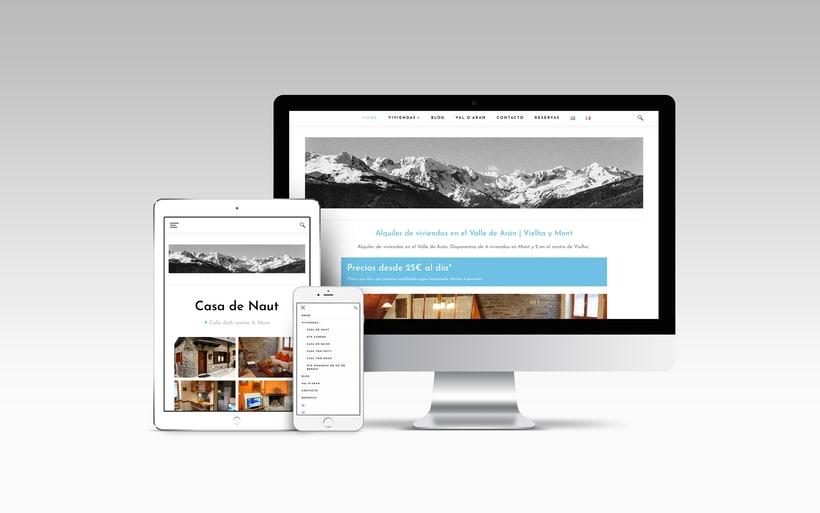Rediseño y creación del sitio web www.apartamentosvalledearan.com con wordpress.  1