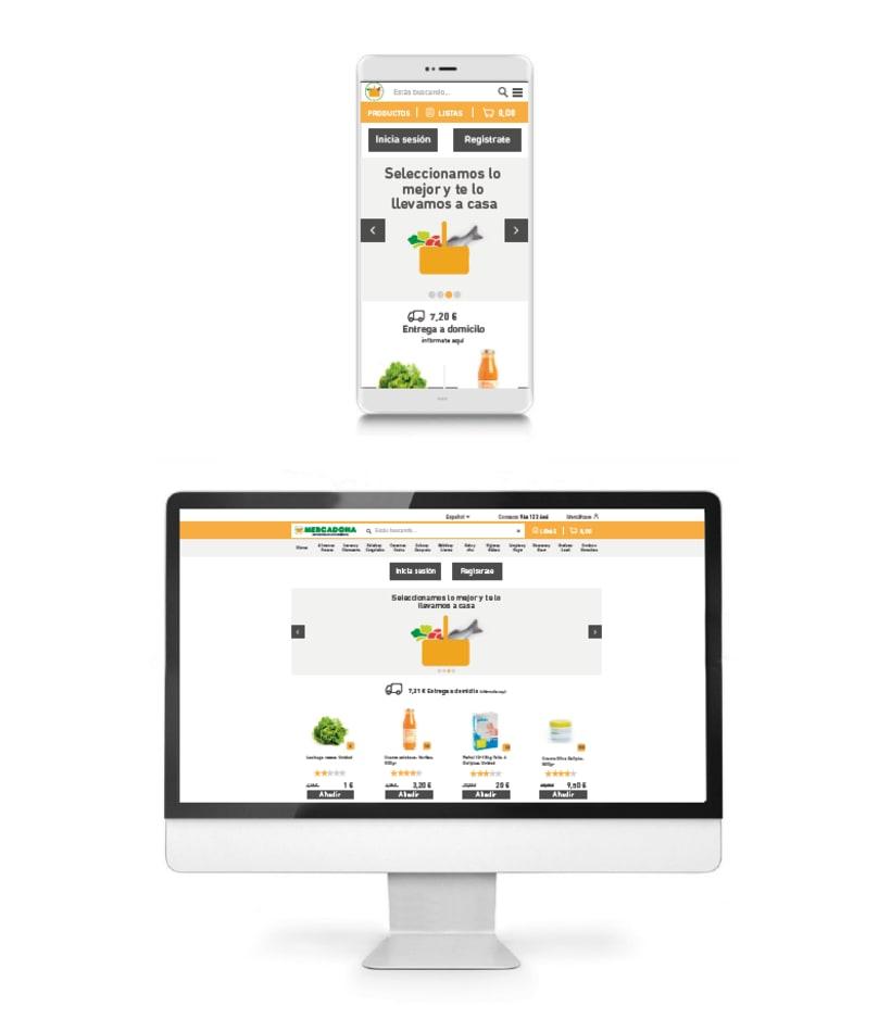 WIREFRAMES. Rediseño de e-commerce. Mobile-First 1