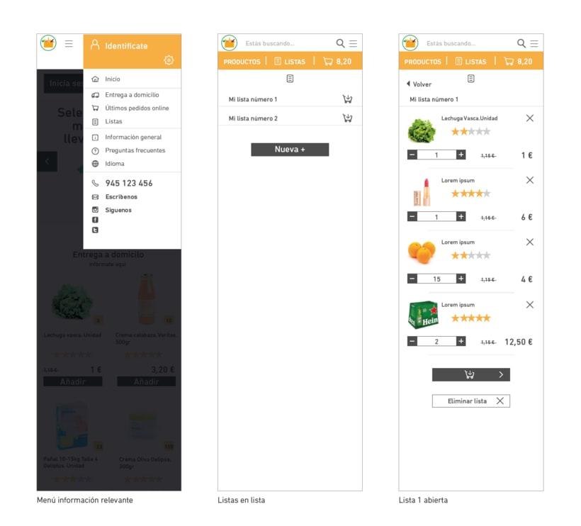 WIREFRAMES. Rediseño de e-commerce. Mobile-First 4