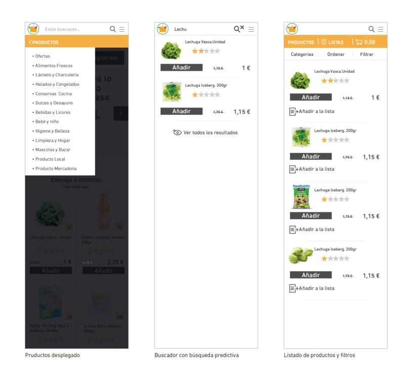 WIREFRAMES. Rediseño de e-commerce. Mobile-First 5