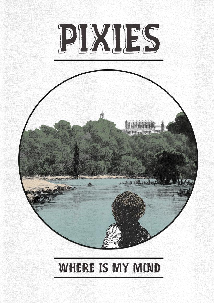 Mis Proyectos del curso: Cartelismo ilustrado sobre Pixies y Arctic Mokeys -1