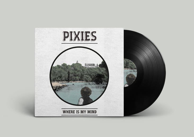 Mis Proyectos del curso: Cartelismo ilustrado sobre Pixies y Arctic Mokeys 0