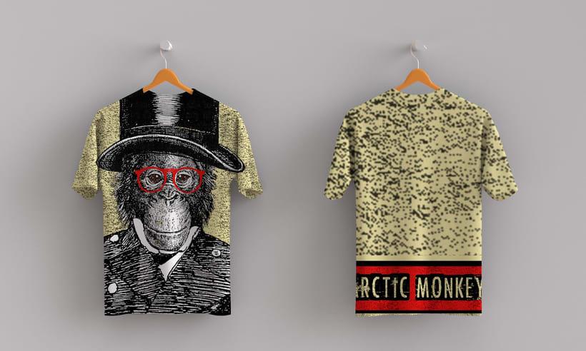 Mis Proyectos del curso: Cartelismo ilustrado sobre Pixies y Arctic Mokeys 3