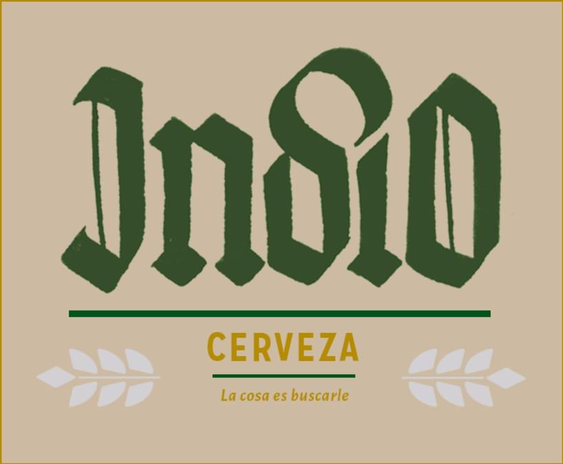 Mi Proyecto del curso: Caligrafía con góticas potentes (Cervezas mexicanas) 0