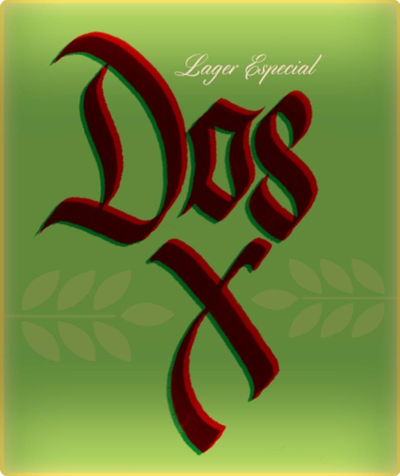 Mi Proyecto del curso: Caligrafía con góticas potentes (Cervezas mexicanas) 1